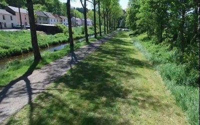 Une vue d'ensemble du parcours de pêche et de l'infrastructure « Maison de la Pêche du Luxembourg »